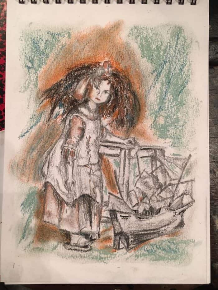 Loni Stark drawing Paris - Académie de la Grande Chaumière