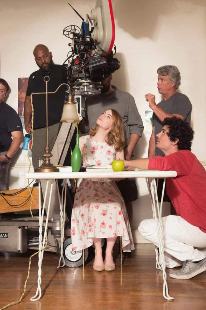 BTS La La Land with Emma Stone and director Damien Chazelle