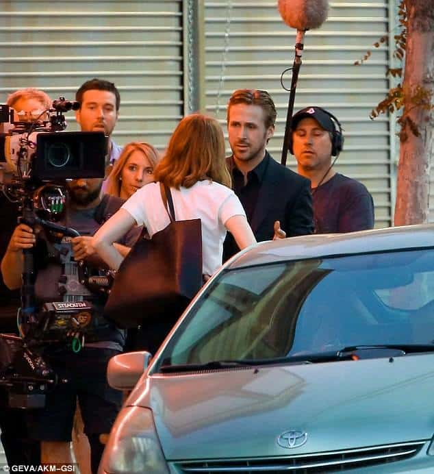 Emma Stone and Ryan Gosling making of La La Land