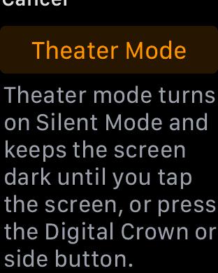 Apple Watch Theater Mode - watchOS 3.2