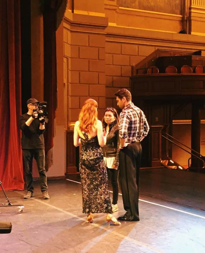 Dancing with the Stars - Clinton Stark and Loni Stark shooting video for Stark Insider at Herbst Theater, San Francisco