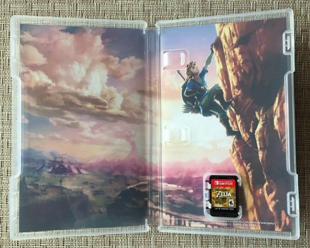 Zelda BotW Cartridge Packaging - Inside