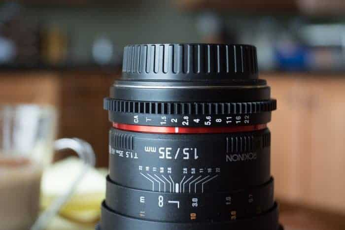 Lensbaby Review: Photo of Rokinon 35mm Cine lens