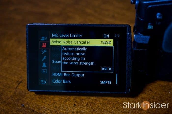 Panasonic GH5: Use DISP button to display more information on menu item