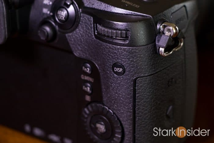 Panasonic GH5 DISP - display button