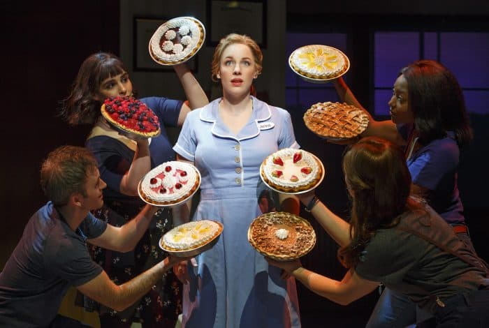 Jessie Mueller as Jenna and Cast in the Original Broadway Production of Waitress