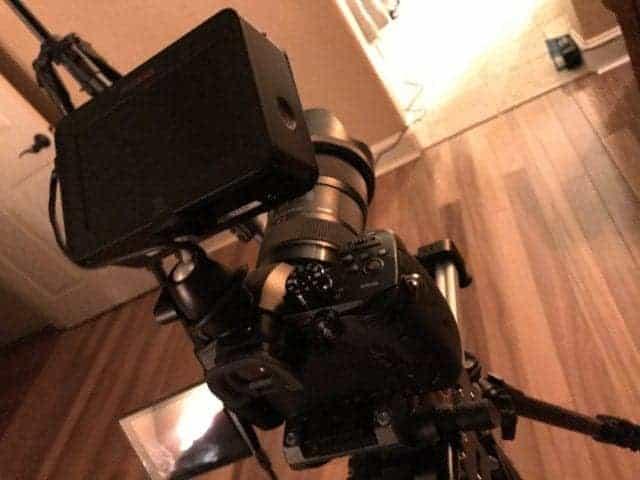 Panasonic GH5 camera and Ninja Blade monitor BTS Crazy or Die by Clinton Stark