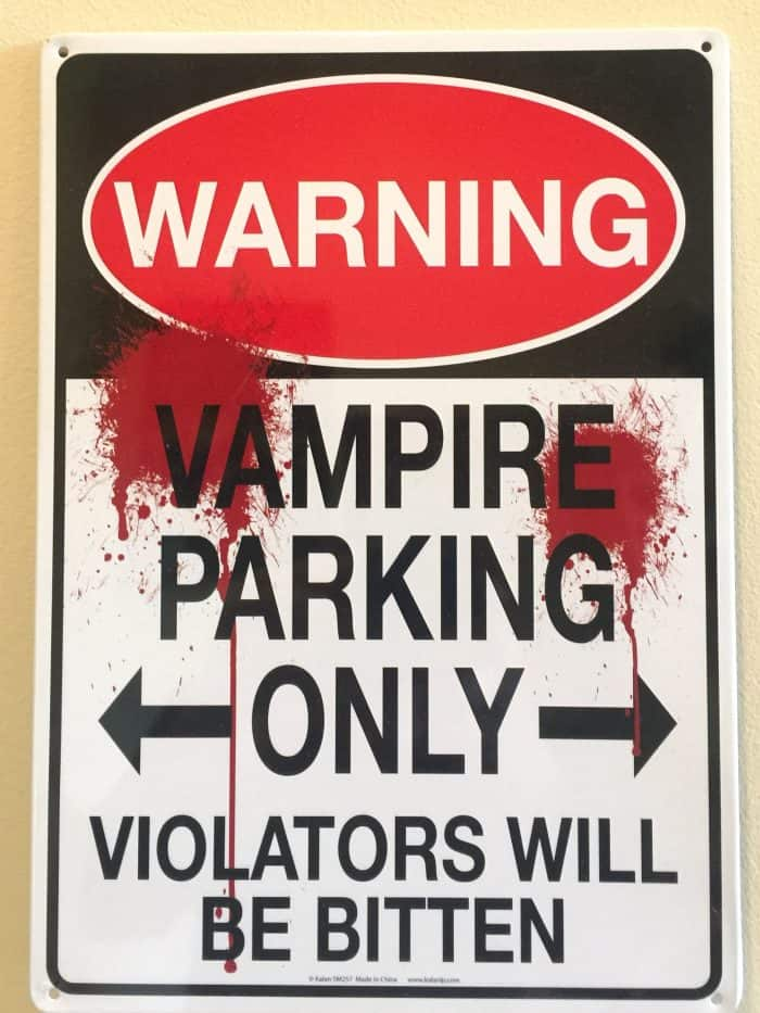 Vampire Parking Only
