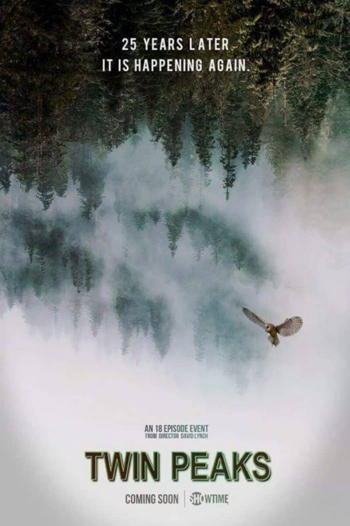 Original Showtime poster to promote new Twin Peaks series in 2017.