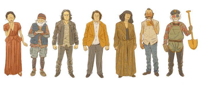 Twin Peaks characters cartoon return artwork
