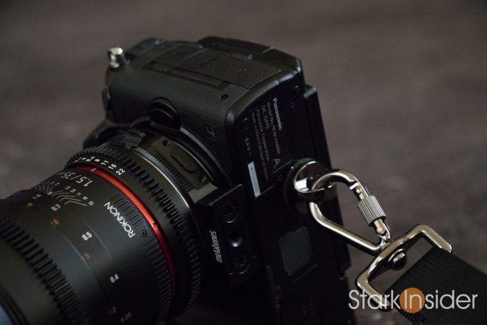 Panasonic GH5 camera strap for shooting video