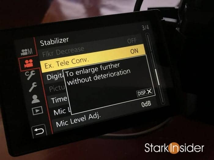 GH5 Shooting Video Tips Ex Tele Conv Function