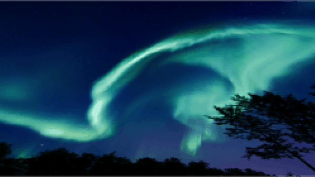 Explanation for Aurora Borealis (Northern Lights)