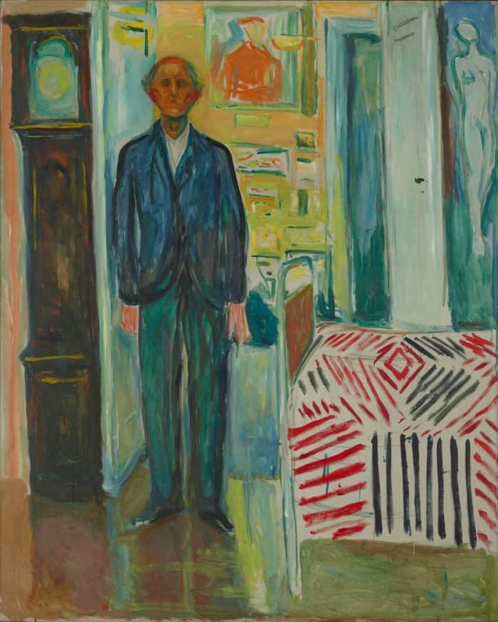 Edvard Munch Between the Clock and the Bed