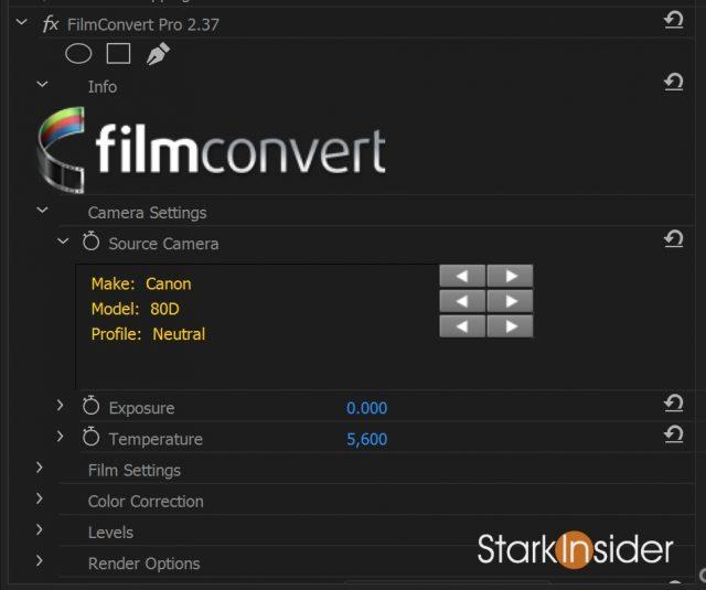 FilmConvert for Canon EOS 80D