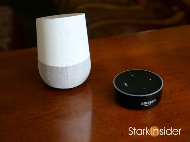 Google Home and Amazon Echo Dot