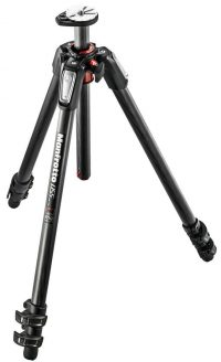 Manfrotto MT055CXPRO3 055 Carbon Fiber 3-Section Tripod with Horizontal Column (Black)