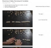 Rosemary's Storyboard Analysis for Scrabble Scene