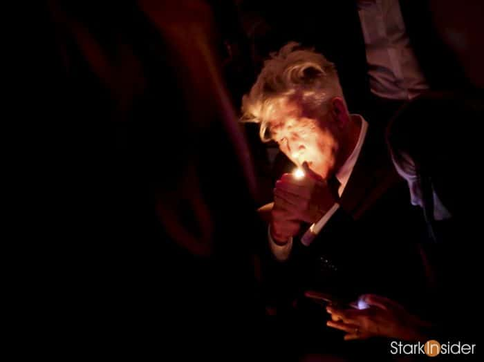 David Lynch at the Festival of Disruption cocktail party (Photo: Clinton Stark)