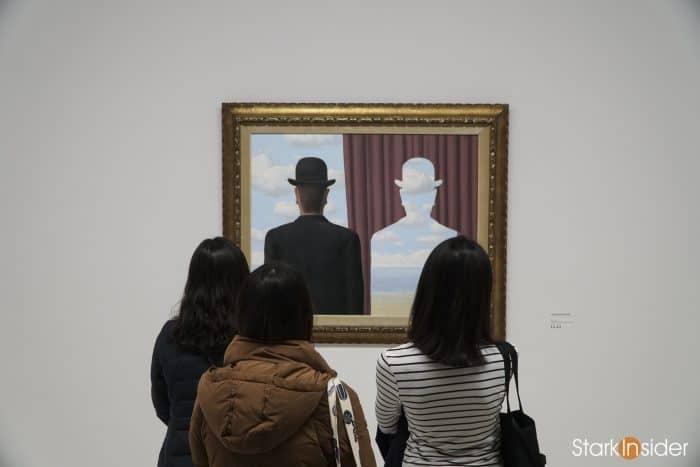Magritte exhibition at Pompidou, Paris, 2017