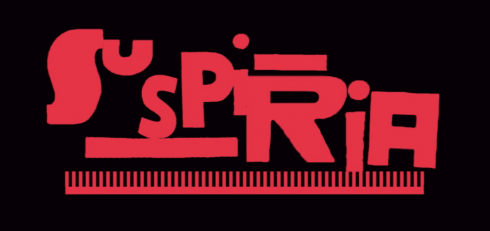 Suspiria movie logo font typeface is awesome