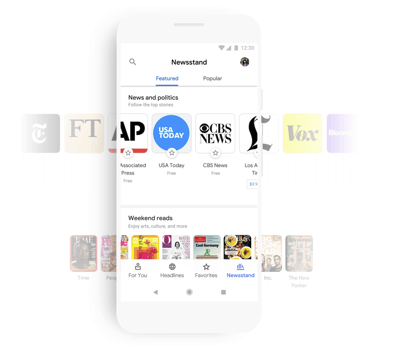 Google consolidates news, magazines, weather into updated