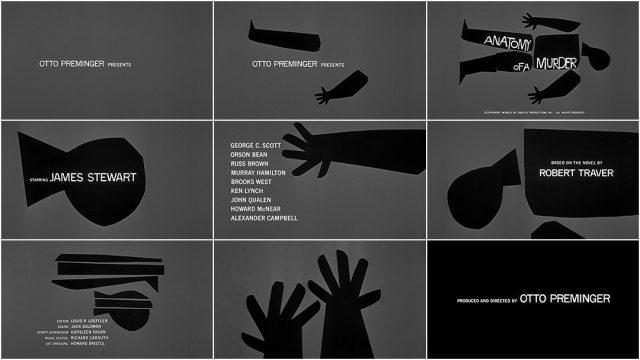 Saul Bass Anatomy of a Murder Title Sequence Analysis