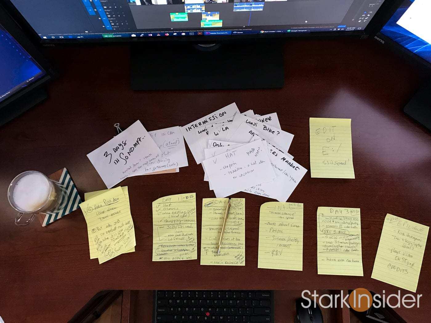 BTS Editing 3 Days in Sonoma. Photo: Clinton Stark