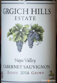 Grgich Hills 2014 Cabernet Sauvignon wine label