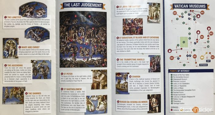 Vatican Museums and Sistine Chapel maps, points of interest