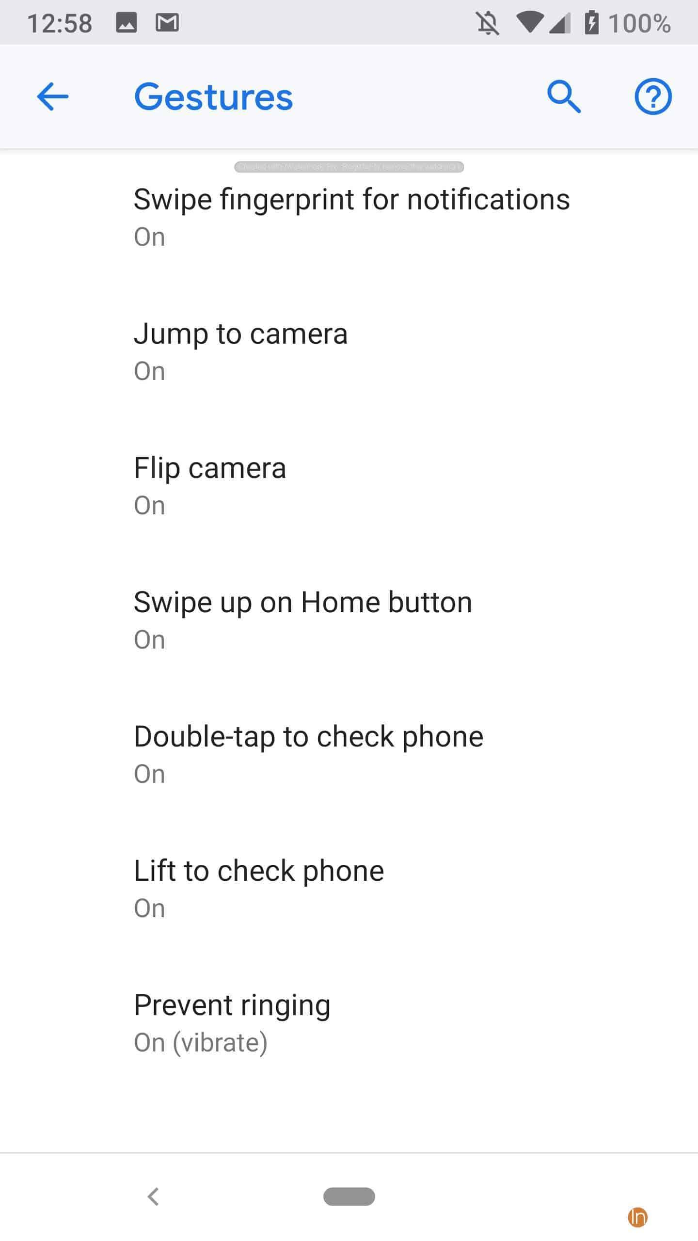 Google Android 9 Pie - Gesture Navigation