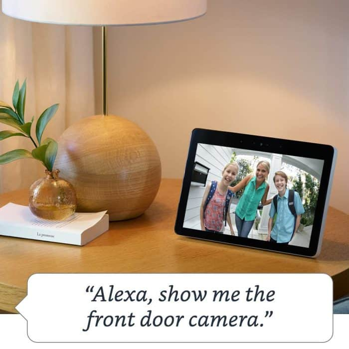Alexa show me the front door camera