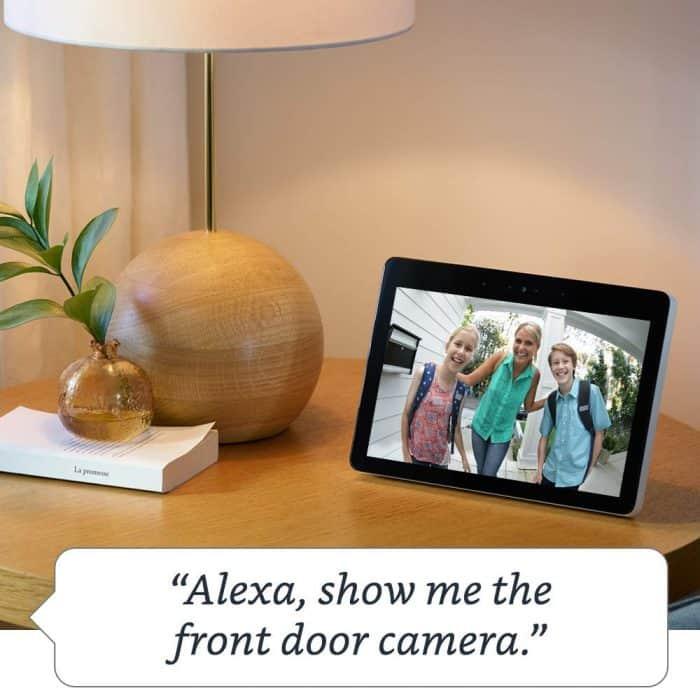 Alexa show me the front door camera