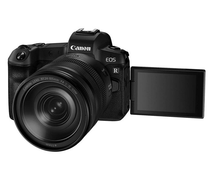 Canon EOS R Mirrorless Digital Camera with 24-105mm telephoto lens