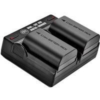 2-Pack of LP-E6N Batteries and Dual USB Battery Charger for Canon