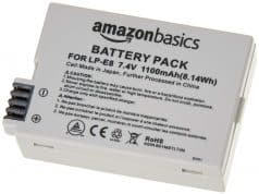 AmazonBasics Li-Ion Battery Canon Cameras (LP-E8)