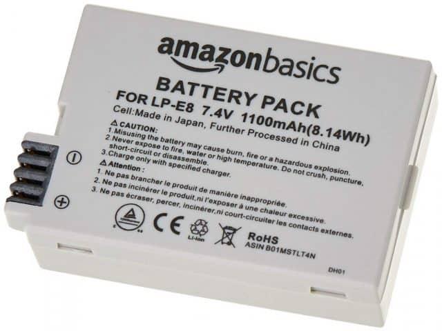 AmazonBasics Li-Ion Battery Canon Cameras (LP-E8)