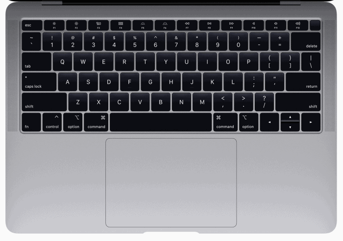 New MacBook Air keyboard 2018