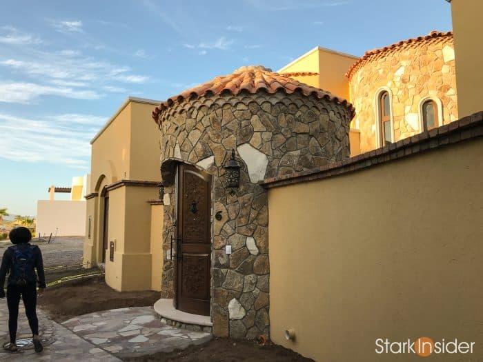 Custom home under construction in Loreto Bay, Baja California Sur.