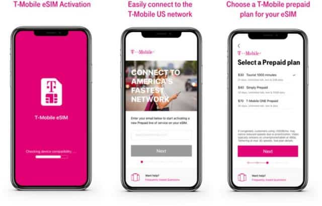 T-Mobile now offers support for eSIM on iPhone XS, XR