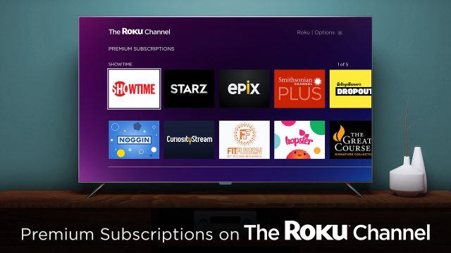 Roku Adds Premium Subscriptions to The Roku Channel