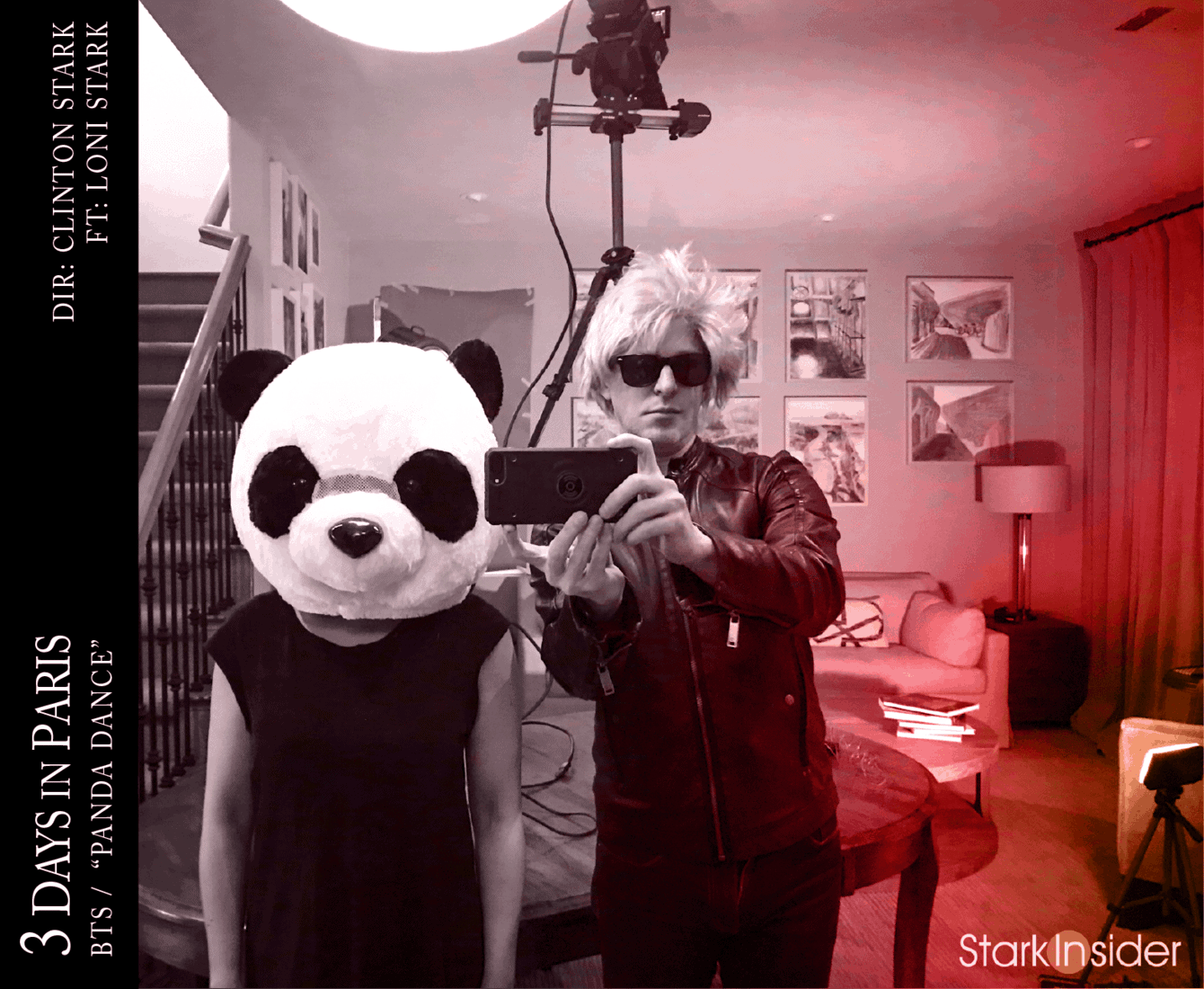 3 Days in Paris BTS Panda Dance: Loni and Clinton Stark
