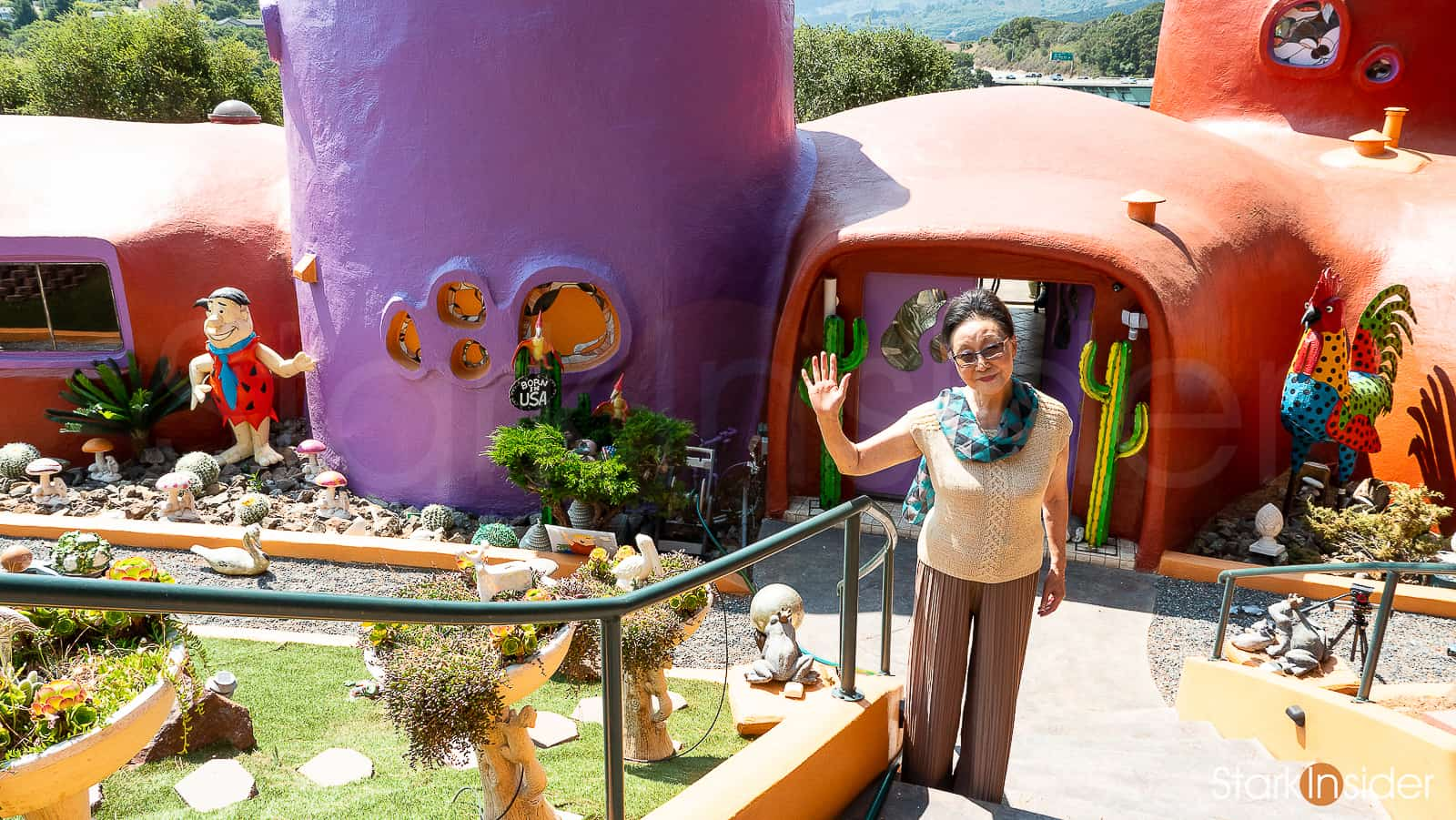 Image result for The Flintstones house Hillsborough by the freeway