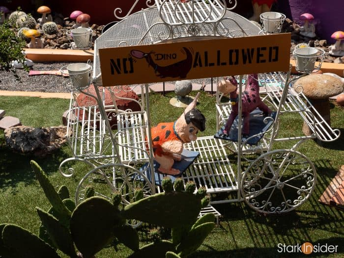 Flintstone House - Hillsborough, California - Fred Flintstone with Dino