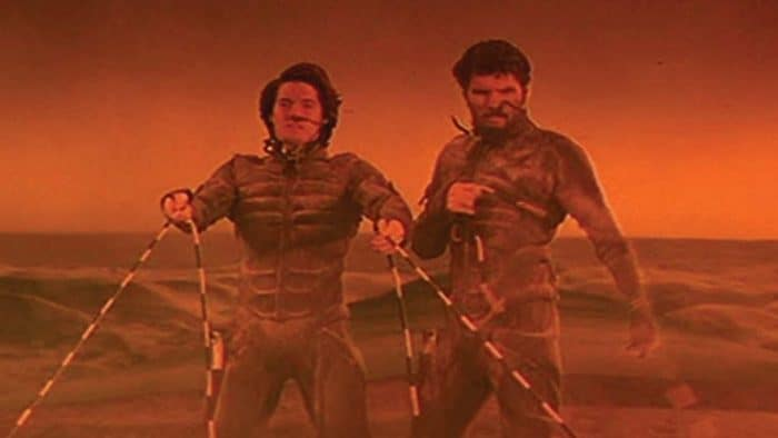 Kyle MacLachlan Dune riding sandworms of course