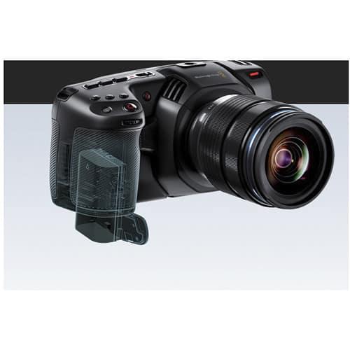 Pocket 4K uses Canon LP-E6 batteries