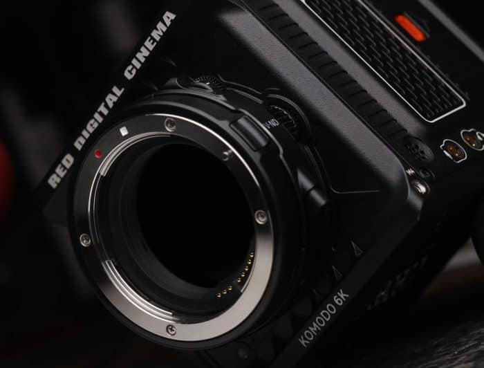 RED 6K Komodo leak photo - preview of Canon R Mount