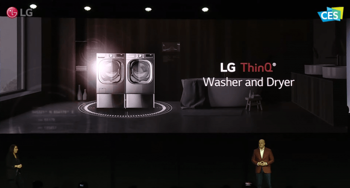 LG ThinQ Washer and Dryer - CES 2020