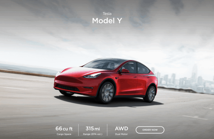 Tesla Model Y SUV ships March 2020
