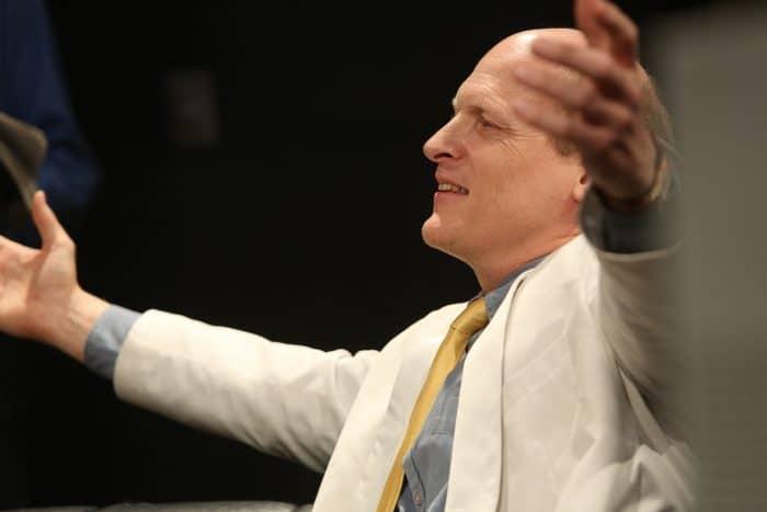 Jim Fletcher as Jay in 'Gatz' at Berkeley Repertory Theatre.